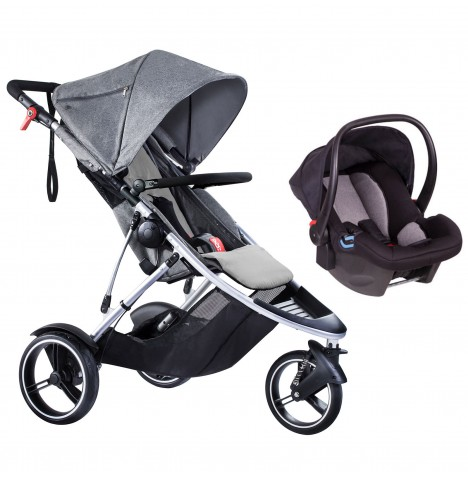 Phil & Teds Dash Travel System - Grey Marl