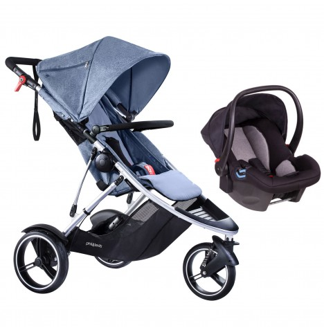 Phil & Teds Dash Travel System - Blue Marl