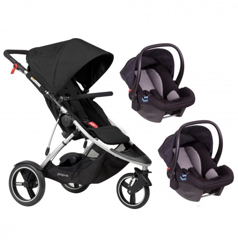 Phil & Teds Dash Double Travel System - Black