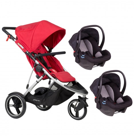 Phil & Teds Dash Double Travel System - Red