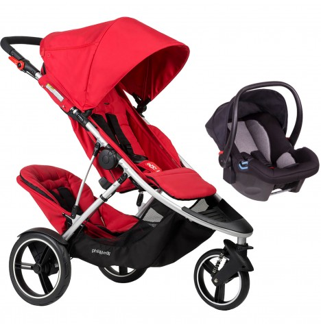Phil & Teds Dash Tandem Travel System - Red