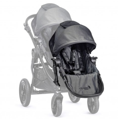 New Baby Jogger Select 2nd Seat With Adaptor - Charcoal Denim