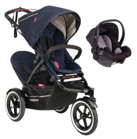 Phil & Teds Sport Autostop Tandem Travel System - Midnight Blue