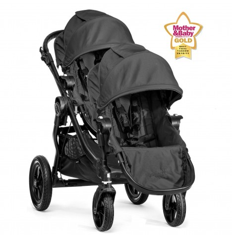 New Baby Jogger City Select Tandem Stroller - Black