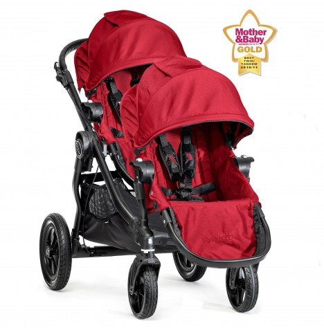 New Baby Jogger City Select Tandem Stroller - Red