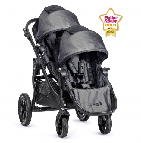 New Baby Jogger City Select Tandem Stroller - Charcoal Denim