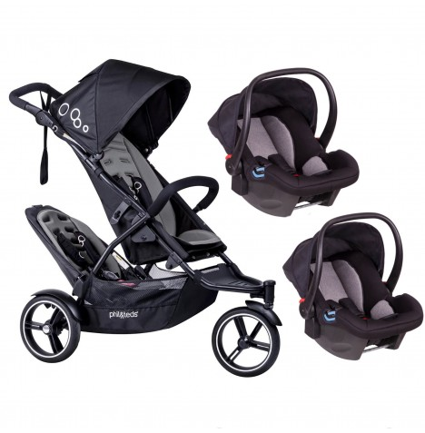 Phil & Teds DOT Tandem Double Travel System - Graphite