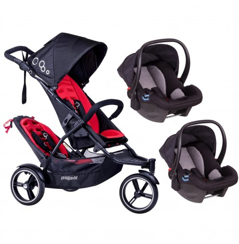 Phil & Teds DOT Tandem Double Travel System - Chilli