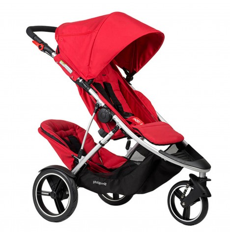 Phil & Teds Dash Tandem Pushchair - Red