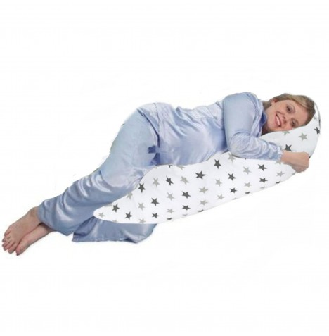 4baby 6ft Deluxe Body & Baby Support Pillow - Silver Twinkle