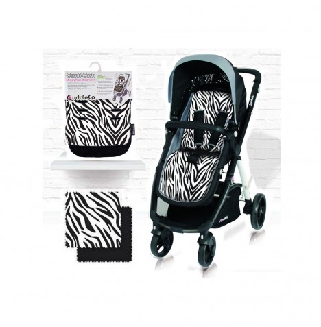Cuddle Co Comfi Cush Pushchair Liner - Zebra