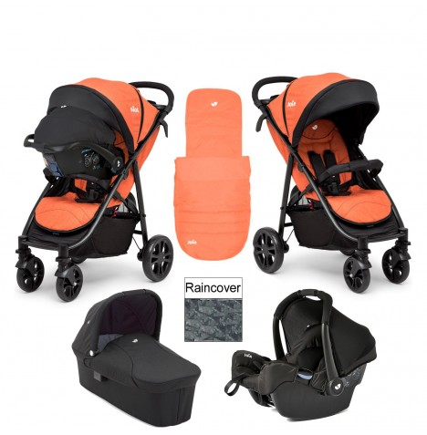 Joie Litetrax 4 Wheel Carrycot (Gemm) Travel System - Rust