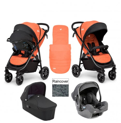 Joie Litetrax 4 Wheel Carrycot (i-Gemm) Travel System - Rust