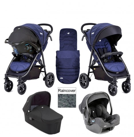 Joie Litetrax 4 Wheel Carrycot (i-Gemm) Travel System - Eclipse