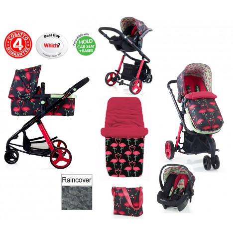 Cosatto Giggle 2 Combi 3 in 1 Travel System - Flamingo Fling..