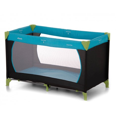Hauck Deluxe Dream n Play Travel Cot / Playpen - Water Blue