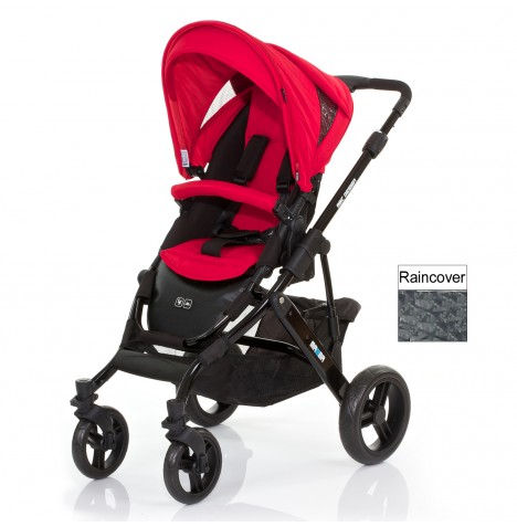 ABC Design Mamba Pushchair - Black / Cranberry