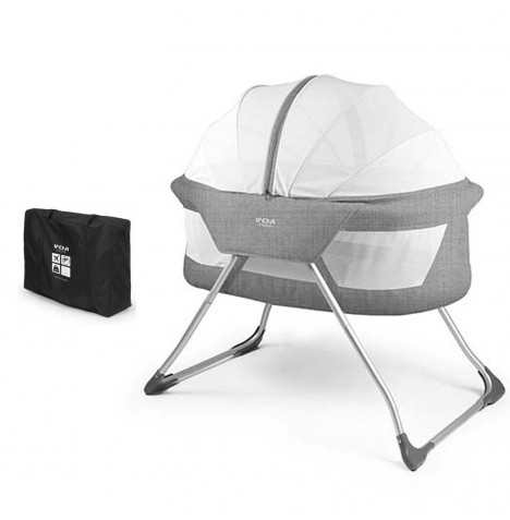 Inovi Cocoon Crib / Bassinet / Travel Cot - Grey