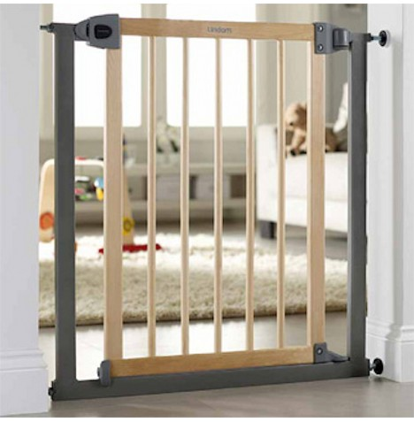 Lindam Easy Fit Safety Gate - Wood & Metal