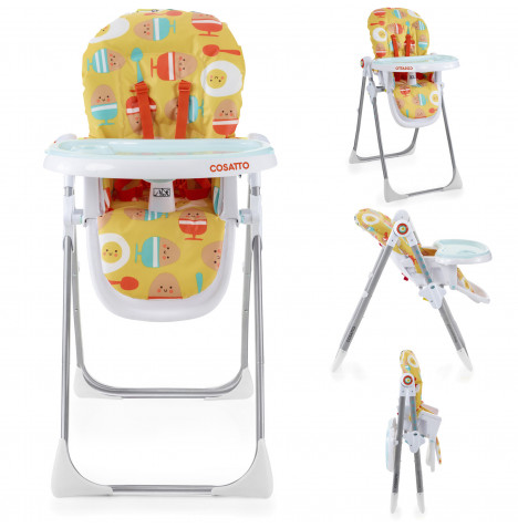 Cosatto Noodle Supa Highchair - Yellow Egg & Spoon