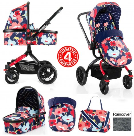 Cosatto Ooba 3 in 1 Combi Pram / Pushchair - Proper Poppy