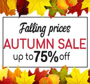 Up to 75% off our Autumn Sale!
