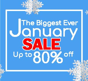 Up to 80% OFF in our January SALE