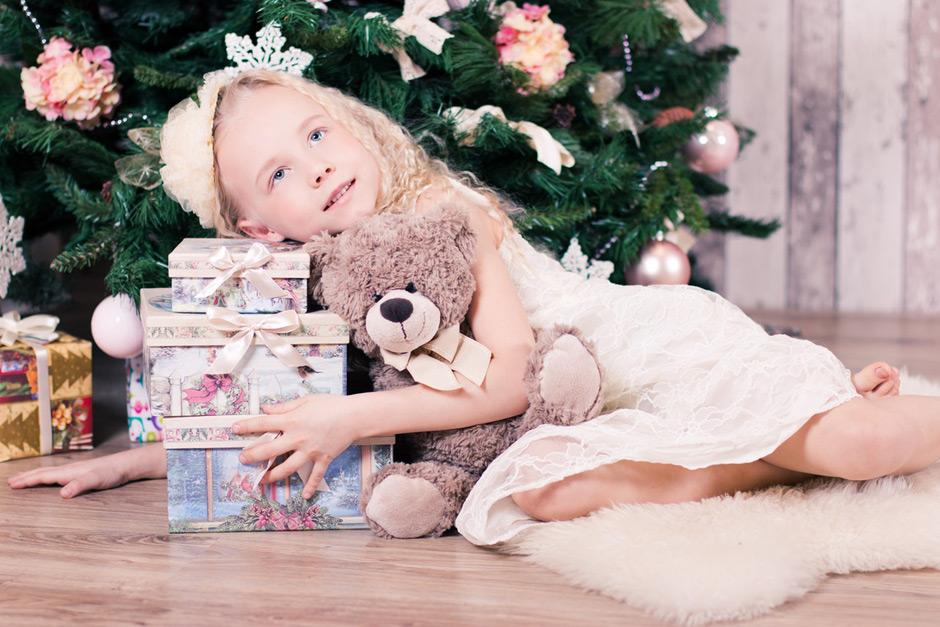 Child with lots of presents