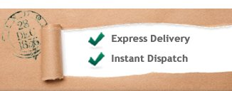 Express Delivery and Instant Dispatch available
