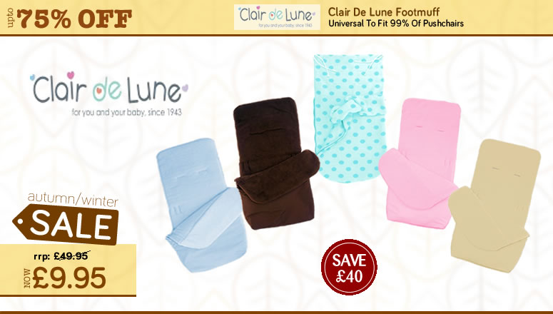 Autumn Winter Baby Products Sale - Clair De Lune Foot Muff On sale at Online4Baby