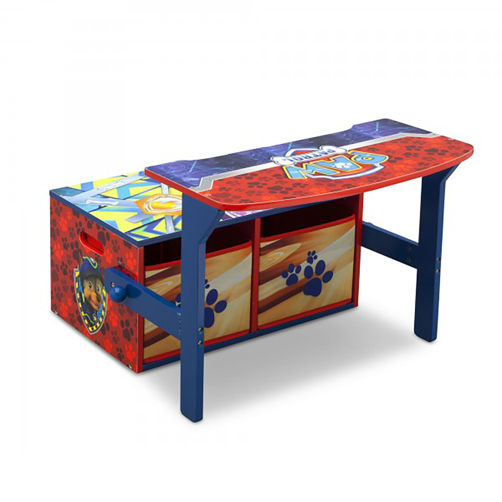 Paw Patrol Toy Organizer Bin Cubby Kids Child Storage Box: NEW DELTA CHILDREN PAW PATROL CONVERTIBLE BENCH / DESK