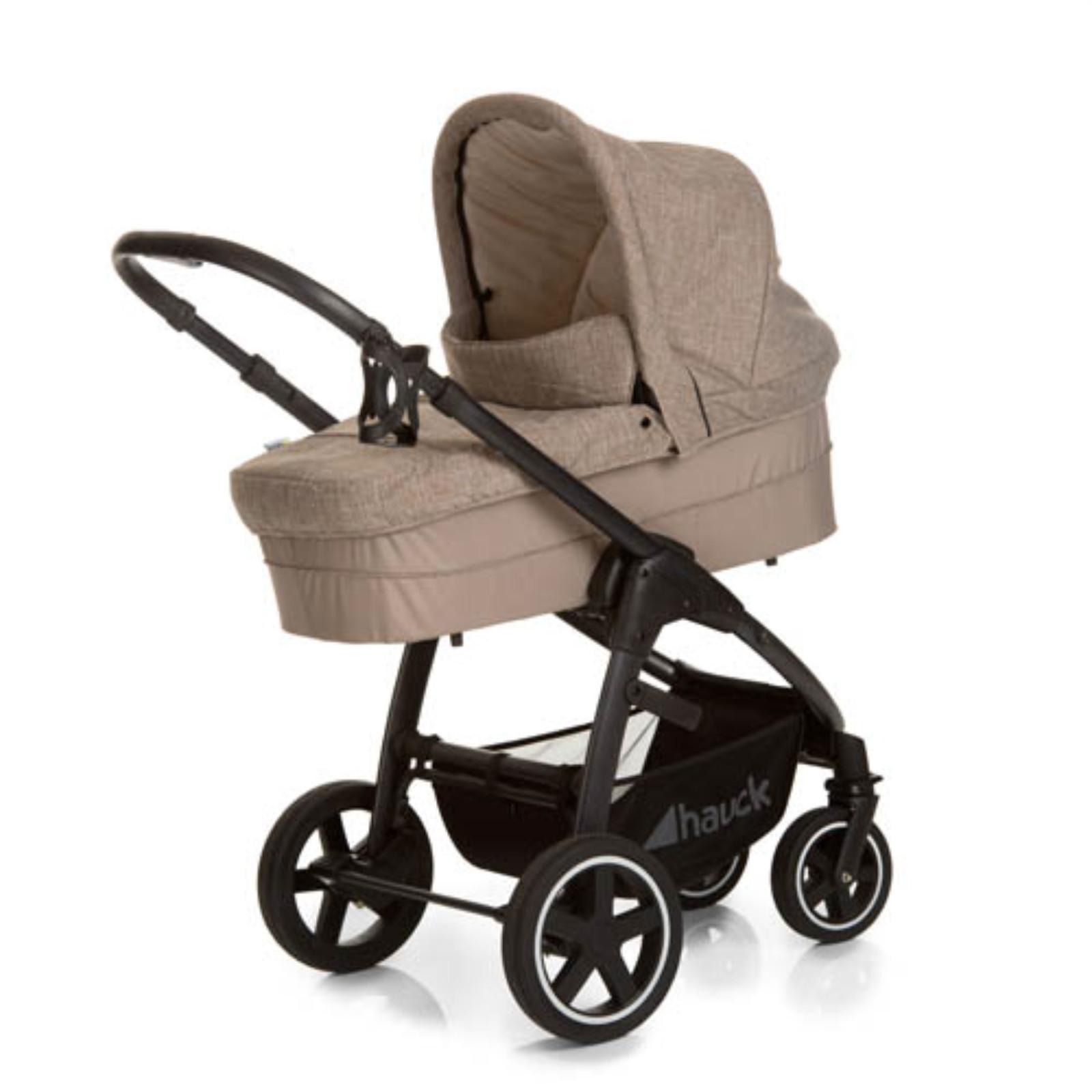 hauck melange sand soul plus trio set travel system pushchair carrycot car seat ebay. Black Bedroom Furniture Sets. Home Design Ideas