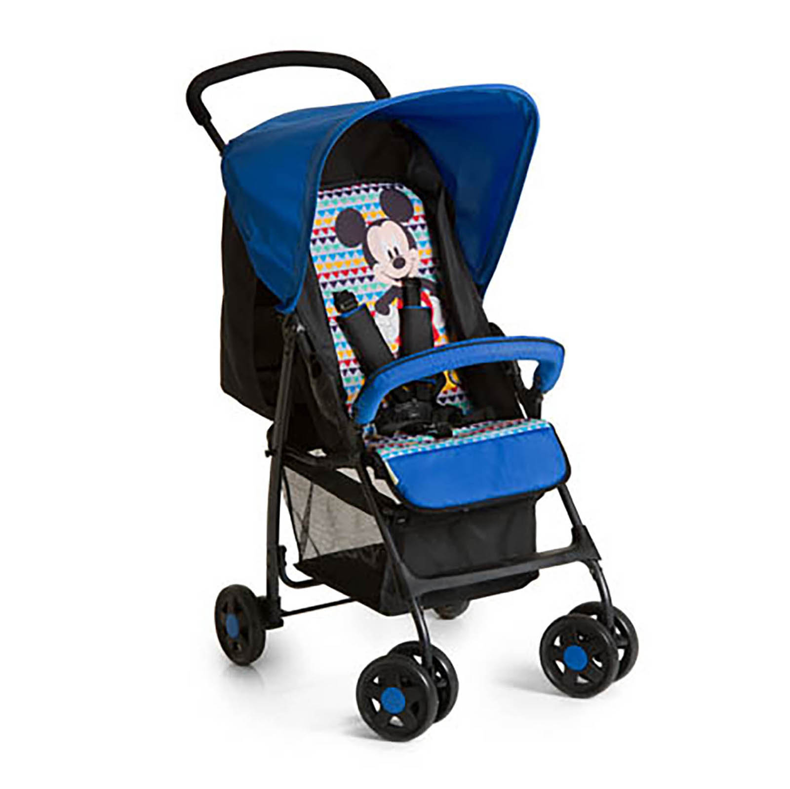 hauck mickey geo blue lightweight baby sport pushchair stroller with raincover ebay. Black Bedroom Furniture Sets. Home Design Ideas