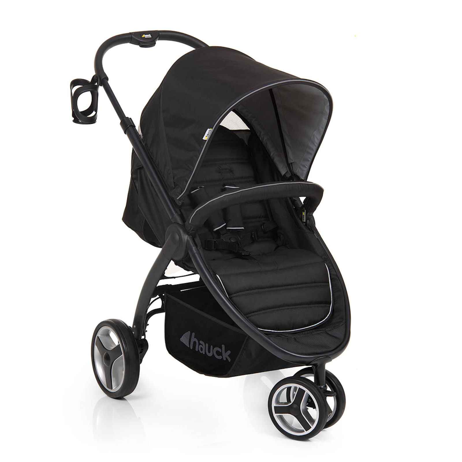 new hauck black lift up 3 pushchair stroller from birth. Black Bedroom Furniture Sets. Home Design Ideas