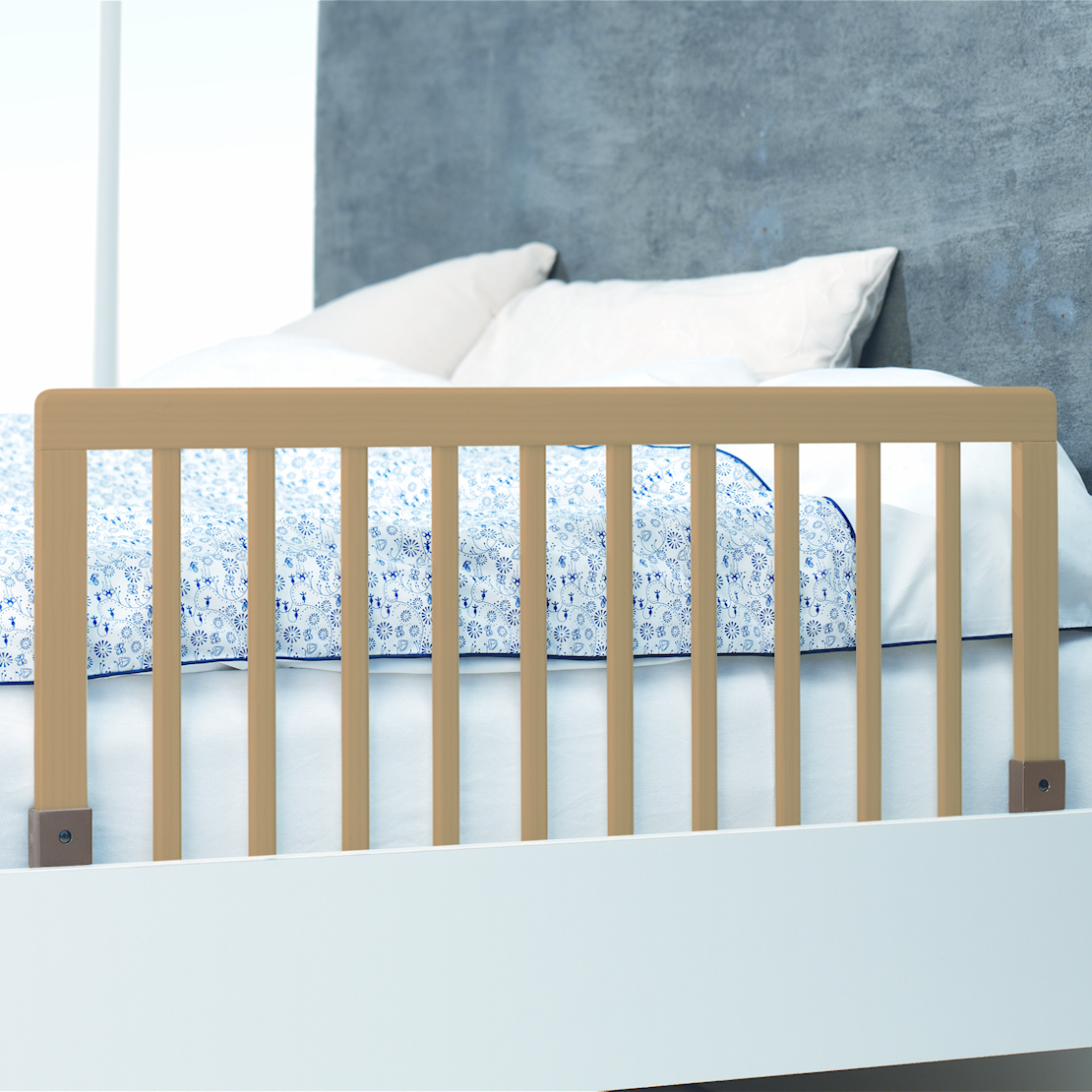 Very Impressive portraiture of   NATURAL SAFETY WOODEN BED RAIL GUARD TO FIT JUNIOR amp CHILDS BEDS with #334667 color and 1110x1110 pixels