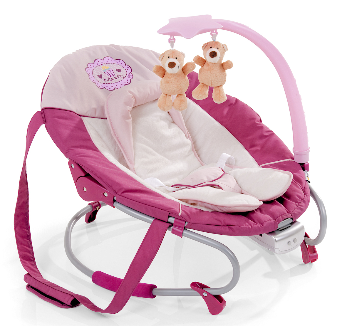 Hauck Cute Baby Pink Leisure E Motion Bungee Baby Bouncer