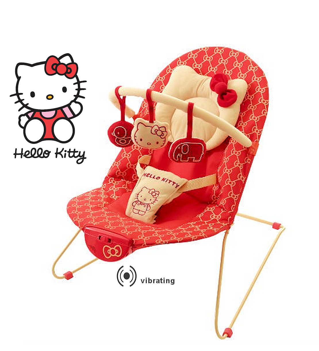 New My Child My First Hello Kitty Vibrating Bungee Baby