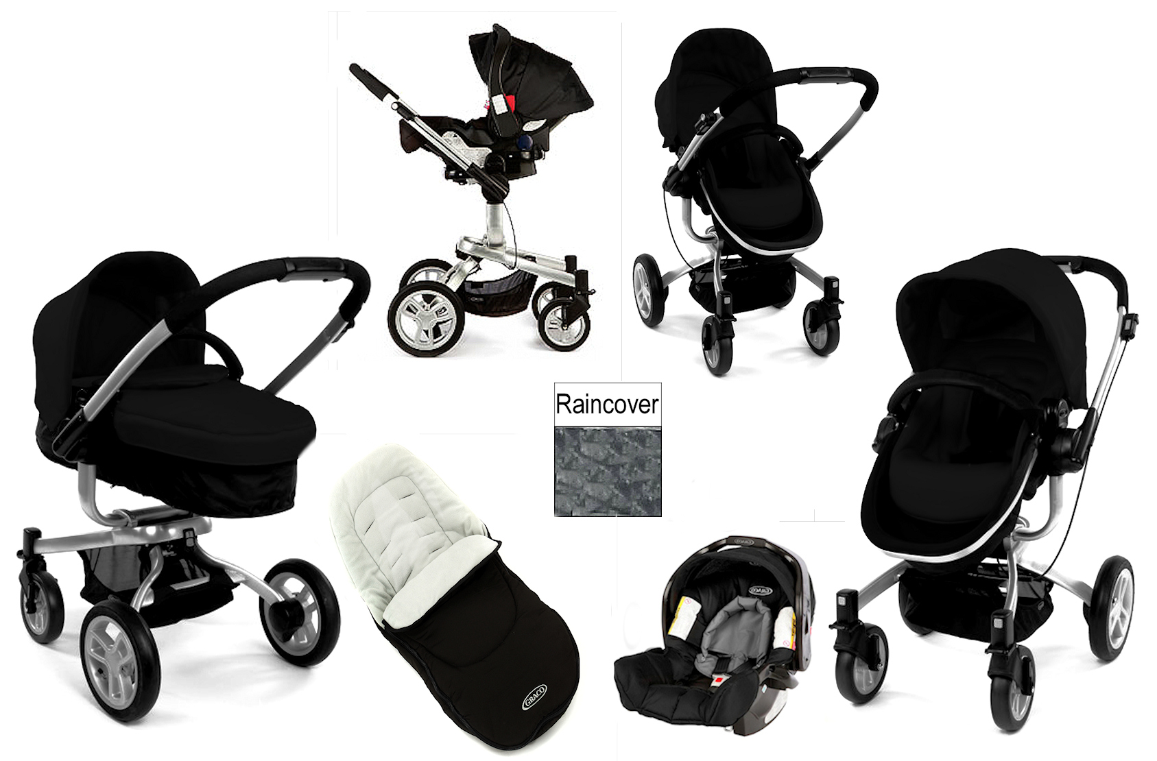 GRACO-URBAN-BLACK-SYMBIO-B-TRAVEL-SYSTEM-PRAM-PUSHCHAIR-JUNIOR-BABY-CAR-SEAT