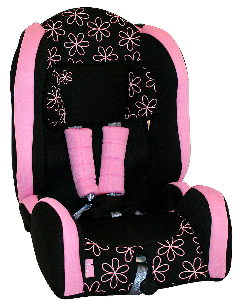 new 4baby childs recliner booster car seat with harness ebay. Black Bedroom Furniture Sets. Home Design Ideas