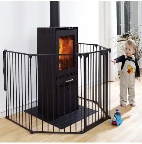 Babydan Hearth Gate Fireguard - Black