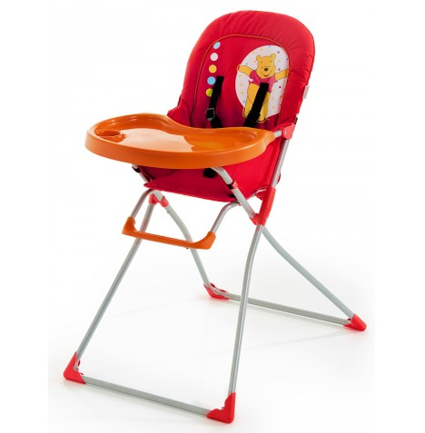 new hauck winnie the pooh red mac baby highchair feeding high chair ebay. Black Bedroom Furniture Sets. Home Design Ideas