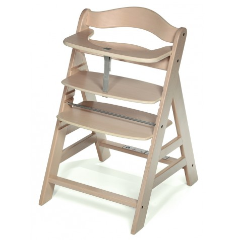 hauck white washed alpha grow with your child wooden high chair baby highchair ebay. Black Bedroom Furniture Sets. Home Design Ideas