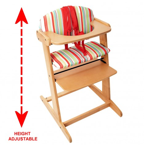 Red Kite Feed Me Bistro Baby Wooden High Chair - Poppy Bistro