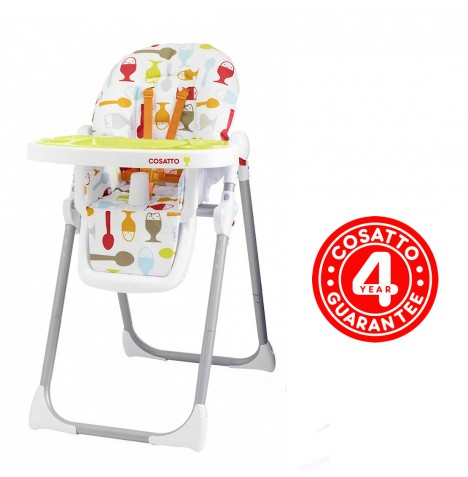 New Cosatto Unisex Dippi Egg Noodle Reclining Highchair