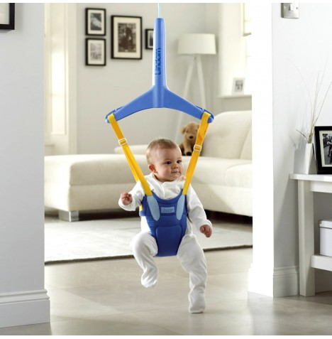 New Lindam Baby Door Bouncer Bounce About Plus Blue