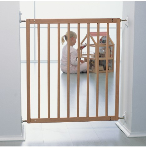 Babydan No Trip Safety Gate - Wood