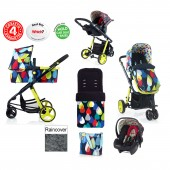 Cosatto Giggle 2 Combi 3 in 1 Travel System - Pitter Patter / Flamingo Fling