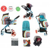 Cosatto Giggle 2 Combi 3 in 1 Travel System - New Wave / Flamingo Fling