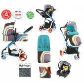 Cosatto Giggle 2 Combi 3 in 1 Travel System - New Wave / Old Skool
