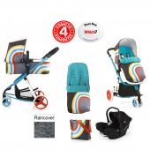 Cosatto Giggle 2 Combi 3 in 1 Travel System - New Wave / Black Ink